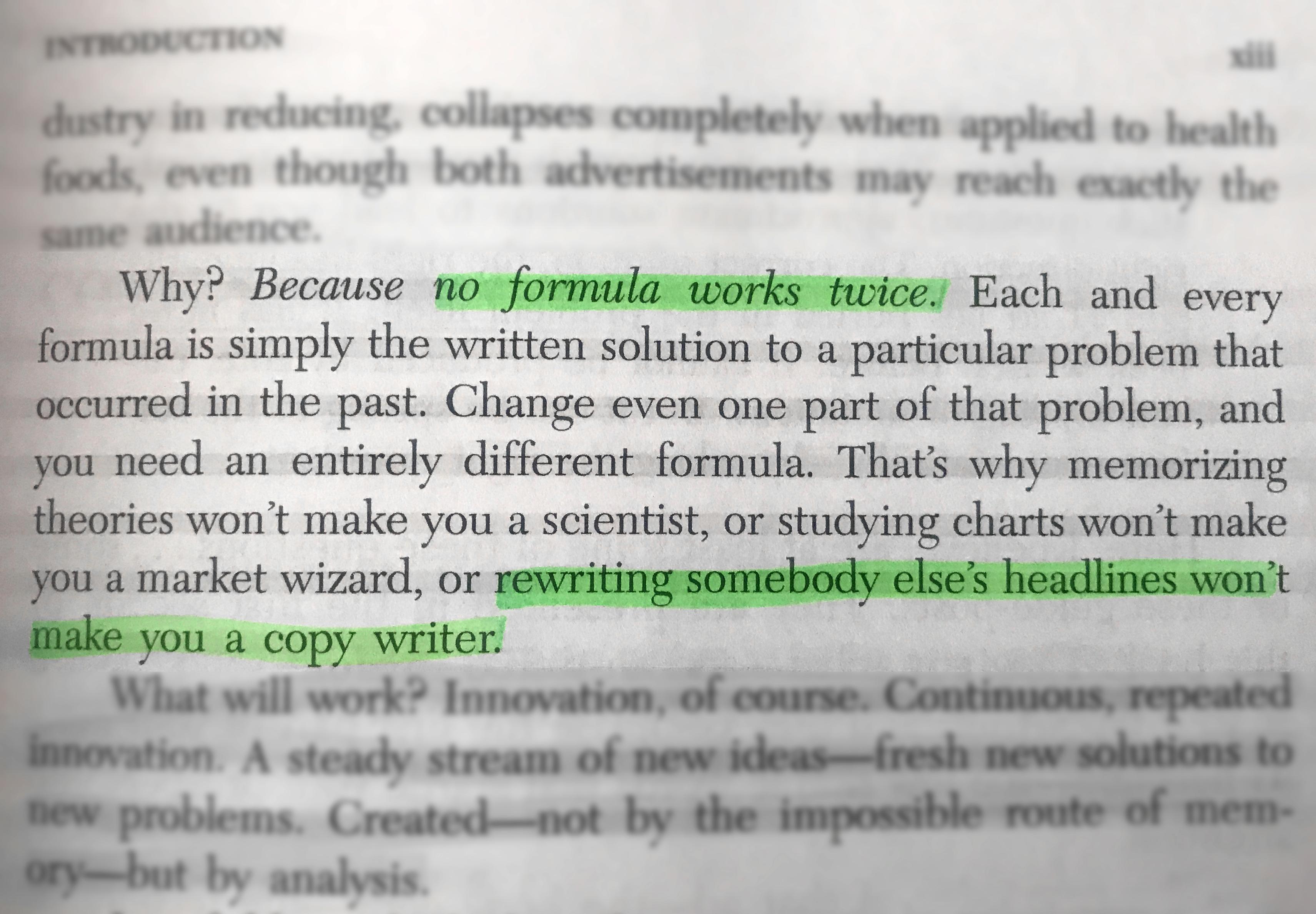 Eugene Schwartz le dit même dans son livre Breakthrough Advertising